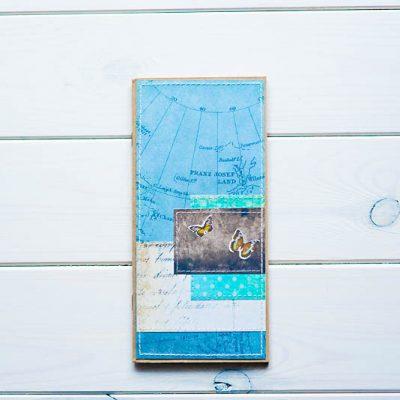 travel journal niebieska okładka