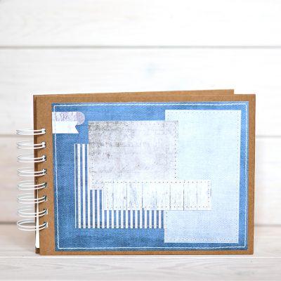 Album na zdjęcia rozmiar 15cmx21cm w kolorystece marine niebieski