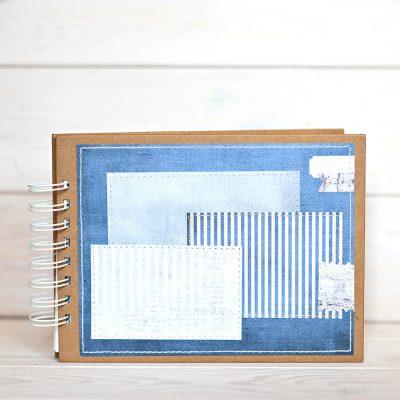 Album na zdjęcia rozmiar 15cmx21cm w kolorystece marine niebieski morski