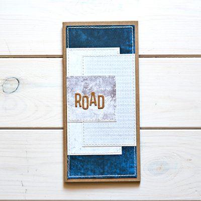 Travel Journal z napisem ROAD