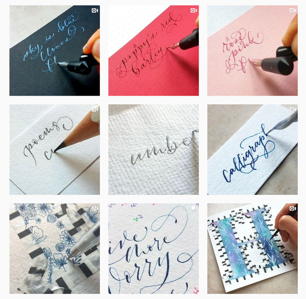 minortysmay instagram gird photos calligraphy