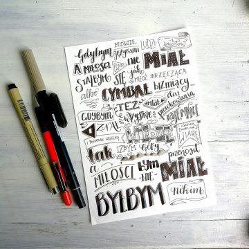 Moje kaligraficzne inspiracje.