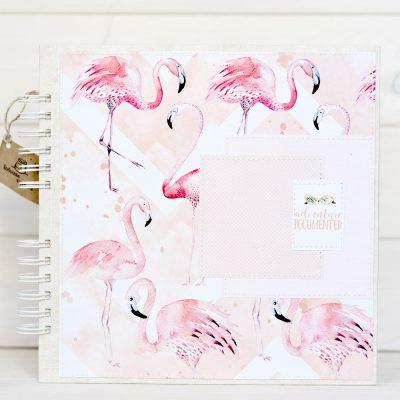 ALbum na zdjęcia format 25x25cm flamingi
