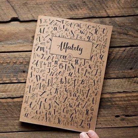 Zeszyt czionek kaligrafia nowoczesna okładka