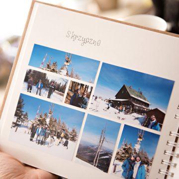 Album wklejany na zdjęcia z górskich wypraw