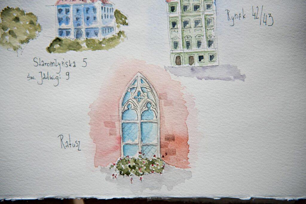 urban sketching wroclaw